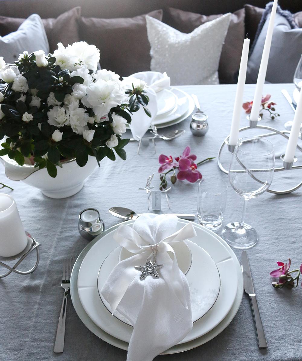 Tilbords Table setting Advent grey hvite purple 5