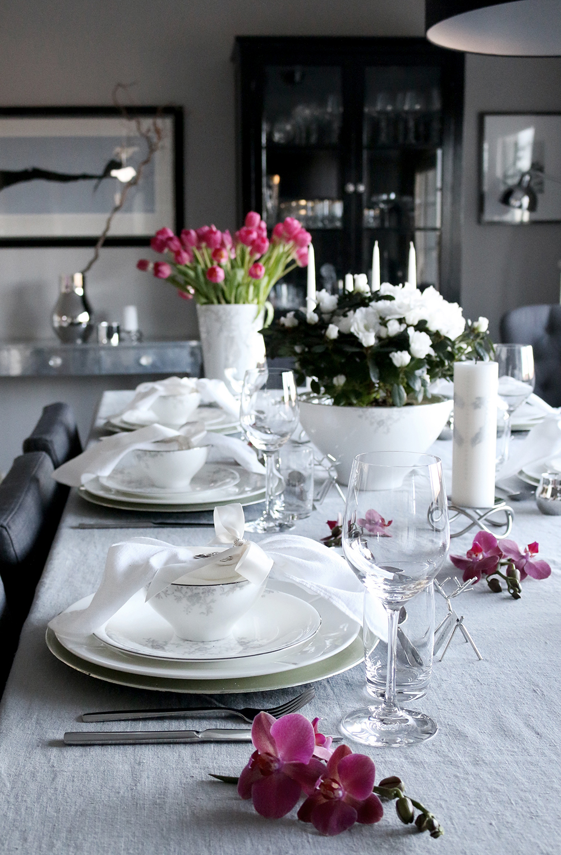 Tilbords Table setting Advent grey hvite purple 7