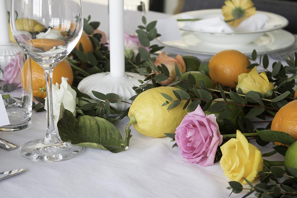Konfirmasjon borddekking fargerik 7 table setting colorful