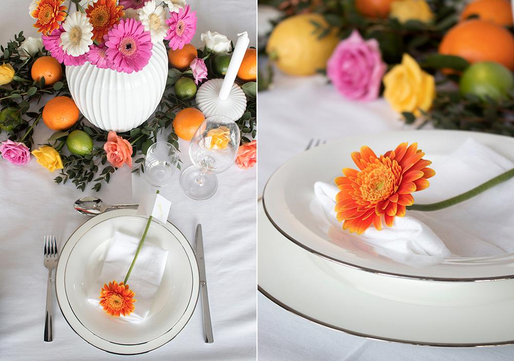 borddekking konfirmasjon rosa